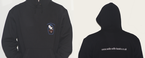 Walks With Hawks Embroided Logo Hoodie - Black
